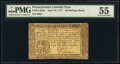 Colonial Notes:Pennsylvania, Pennsylvania April 10, 1777 40s PMG About Uncirculated 55.. ...