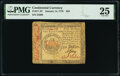 Continental Currency January 14, 1779 $50 PMG Very Fine 25