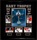 Autographs:Photos, Hart Trophy Winners Signed Display - Hull, Lafleur, Esposito, Mikita, Geoffrion!...