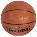 Basketball Collectibles:Balls, Jerry West Single Signed Basketball. ...