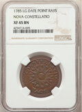 1785 Nova Constellatio Copper, Pointed Rays, Large Date, XF45 NGC. NGC Census: (11/41). PCGS Population: (30/114). XF45...