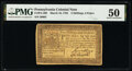 Colonial Notes:Pennsylvania, Pennsylvania March 16, 1785 2s 6d PMG About Uncirculated 50.. ...