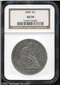 Seated Dollars: , 1844 $1 AU50 NGC. One of just 20,000 Silver Dollars ...