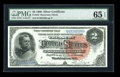 Large Size:Silver Certificates, Fr. 242 $2 1886 Silver Certificate PMG Gem Uncirculated 65 EPQ....