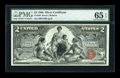 Large Size:Silver Certificates, Fr. 248 $2 1896 Silver Certificate PMG Gem Uncirculated 65 EPQ....