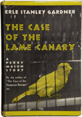 Books:First Editions, Erle Stanley Gardner. The Case of the Lame Canary. New York:William Morrow and Company, 1937....