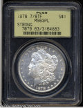 Morgan Dollars: , 1878 7/8TF $1 Strong MS63 Prooflike PCGS. Well struck ...