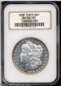 Morgan Dollars: , 1878 7/8TF $1 Strong MS64 Prooflike NGC. Well struck ...
