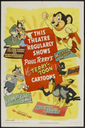 "Movie Posters:Animated, Terry-Toons Stock (20th Century Fox, 1950). One Sheet (27"" X 41"").Animated...."