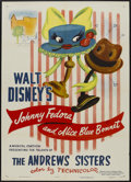 "Movie Posters:Animated, Make Mine Music - Johnny Fedora and Alice Blue Bonnet (RKO, R-1954). One Sheet (27"" X 41""). Animated...."
