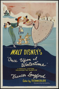 "Movie Posters:Animated, Melody Time - Once Upon a Wintertime (RKO, R-1954). One Sheet (27""X 41""). Animated...."