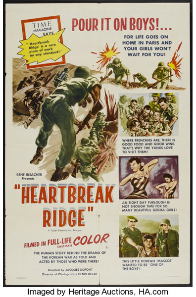 Heartbreak Ridge (Tudor, 1955)  One Sheet (27