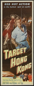 "Movie Posters:Action, Target Hong Kong (Columbia, 1953). Insert (14"" X 36""). Action...."