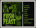 "Movie Posters:Horror, Flesh Feast (Viking International, 1970). Half Sheet (22"" X 28""). Horror...."