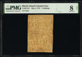 Colonial Notes:Rhode Island, Rhode Island May 3, 1775 5s PMG Very Good 8 Net.. ...