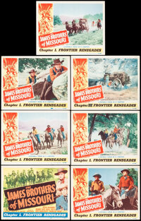 """The James Brothers of Missouri (Republic, 1949). Very Fine-. Title Lobby Card & Lobby Cards (6) (11"""" X 14""""..."""