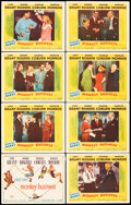 """Movie Posters:Comedy, Monkey Business (20th Century Fox, 1952). Overall: Very Fine-. Lobby Card Set of 8 (11"""" X 14""""). Comedy.. ... (Total: 8 Items)"""