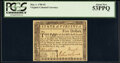 Virginia May 1, 1780 $5 PCGS About New 53PPQ