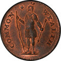 1787 CENT Massachusetts Cent, Arrows in Left Talon MS66 Red and Brown PCGS. Ryder 3-G, W-6090, R.3....(PCGS# 303)