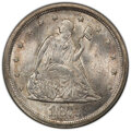1875-S 20C MS65 PCGS. PCGS Population: (211/64 and 8/12+). NGC Census: (198/57 and 4/2+). CDN: $1,800 Whsle. Bid for NGC...