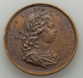 Two Betts Medals. 1720 Louisbourg Founded MS63 Brown Uncertified, Betts-144, bronze, 41 mm; and Victories of 1758 and...