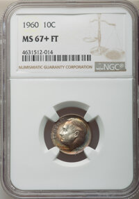 1960 10C MS67+ Full Bands NGC. NGC Census: (31/0 and 5/0+). PCGS Population: (40/0 and 11/0+). CDN: $200 Whsle. Bid for...
