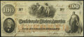 Confederate Notes:1862 Issues, T41 $100 1862 PF-13 Cr. 321A Fine-Very Fine.. ...