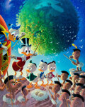 Memorabilia:Disney, Carl Barks An Astronomical Predicament Signed Limited Edition Lithograph Print #223/345 (Another Rainbow, 1990)....