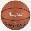 Basketball Collectibles:Balls, Jerry West Single Signed Basketball....