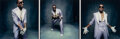 Photographs, Danny Clinch (American, 1964). Kanye West at the Grammys (triptych), 2006. Dye coupler print, printed 2007. 7 x 21-3/8 i...