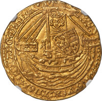 Great Britain: Richard II gold Noble ND (1377-1399) MS63 NGC