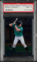 Baseball Cards:Singles (1970-Now), 2000 Topps Chrome Traded Miguel Cabrera #T40 PSA Mint 9....