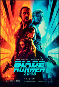 """Blade Runner 2049 (Warner Bros., 2017). Rolled, Very Fine+. One Sheet (27"""" X 40"""") DS Advance. Science Fiction..."""