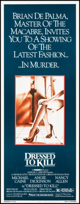 """Dressed to Kill & Other Lot (Filmways, 1980). Rolled, Very Fine. Inserts (2) (14"""" X 36""""). Horror. ... (Tot..."""
