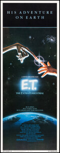 """Movie Posters:Science Fiction, E.T. The Extra-Terrestrial (Universal, 1982). Rolled, Very Fine+. Insert (14"""" X 36"""") John Alvin Artwork. Science Fiction.. ..."""