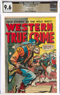 Western True Crime #6 The Promise Collection Pedigree (Fox Features Syndicate, 1949) CGC NM+ 9.6 Off-white to white page...