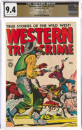Golden Age (1938-1955):Western, Western True Crime #16 (#2) The Promise Collection Pedigree (Fox Features Syndicate, 1948) CGC NM 9.4 Off-white to white pages...