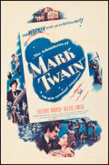 """Movie Posters:Adventure, The Adventures of Mark Twain (Warner Bros., 1944). Overall: Very Fine- on Linen. One Sheets (2) (27"""" X 41"""") Styles A & B. Ad... (Total: 2 Items)"""