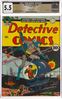 Detective Comics #70 The Promise Collection Pedigree (DC, 1942) CGC FN- 5.5 Off-white to white pages
