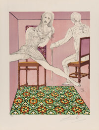 Salvador Dali (1904-1989) Marianne and the Chevalier, from The Marquis de Sade, 1969 Lith