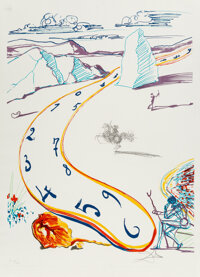 Salvador Dali (1904-1989) Melting Space-Time, from Imaginations and Objects of the Future, 1