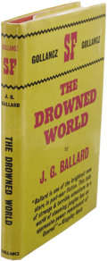 Books:First Editions, J.G. Ballard: The Drowned World. (London: Victor Gollancz,1962), first hardcover edition, 175 pages, red cloth with gil...