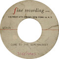 "Music Memorabilia:Recordings, Barbra Streisand ""Come To The Supermarket""/""Too Long At The Fair""Acetate (Fine Recording). Here's something special -- an a..."