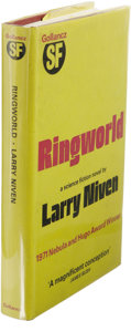 Books:First Editions, Larry Niven: Inscribed Ringworld. (London: Victor Gollancz,1972), first English edition, 288 pages, inscribed by the au...