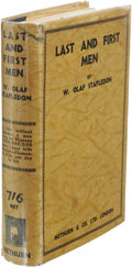 Books:Signed Editions, William Olaf Stapledon: Inscribed Last and First Men: A Story ofthe Near and Far Future. (London: Methuen, 1930), first...