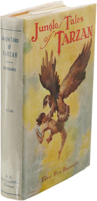 Edgar Rice Burroughs: Jungle Tales of Tarzan Inscribed to His Son. (Chicago: A.C. McClurg, 1919), first edition, fi