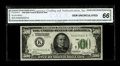 Small Size:Federal Reserve Notes, Fr. 2200-K $500 1928 Federal Reserve Note. CGA Gem Uncirculated 66.. This well centered and bright example is easily the hig...