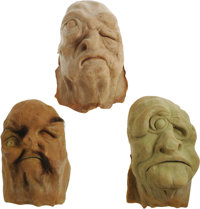 """Masks from World Without End. Produced by Allied Artists in 1956 in an attempt to shed their """"poverty row"""" ima..."""