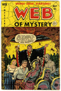 Golden Age (1938-1955):Horror, Web of Mystery #9 (Ace, 1952) Condition: VG....