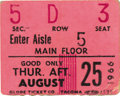 Music Memorabilia:Tickets, Beatles Seattle Center Coliseum Concert Ticket Stub. Stub from theband's August 25, 1966, afternoon concert in Seattle, one...
